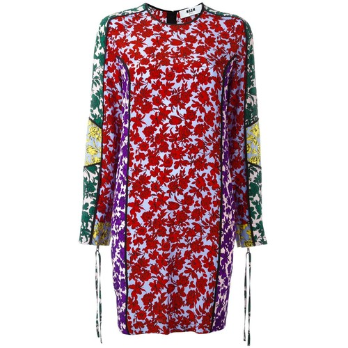 MSGM Floral Print Shift Dress