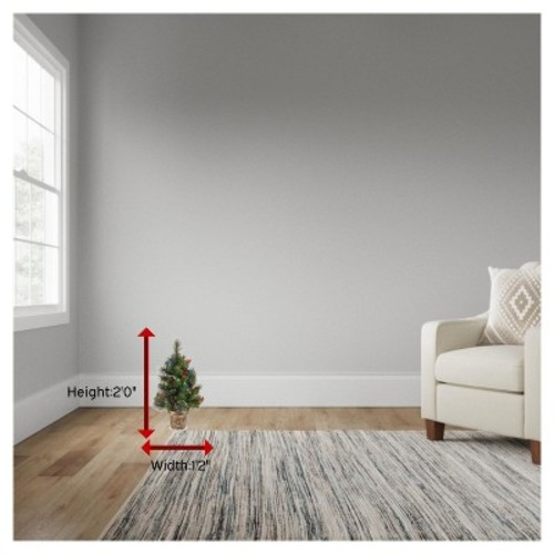 2 ft. Crestwood Spruce Tree with Battery Operated Multicolor LED Lights