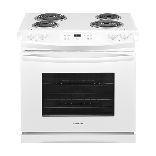 Frigidaire 30 in. 4.6 cu. ft. Slide-In Electric Range with Self-Cleaning in White