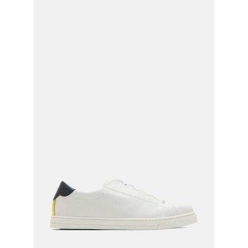 Scalloped Edge Slip-On Sneakers in White