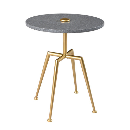 Christopher Knight Home Grey Brass Iron/Marble Accent Table