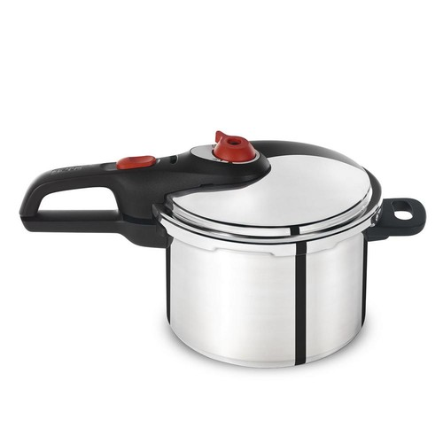 T-Fal Initiatives 6 Qt. Pressure Cooker in Stainless Steel