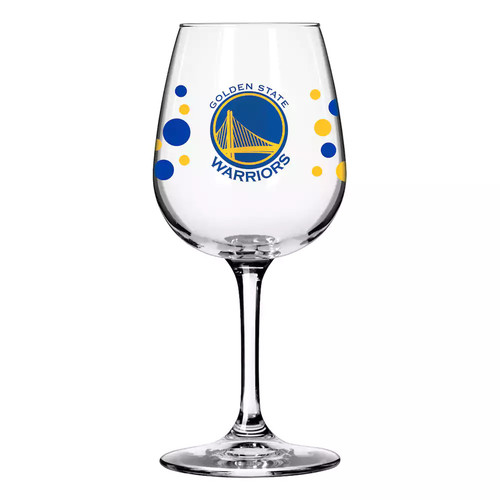 Boelter Golden State Warriors Polka-Dot Wine Glass