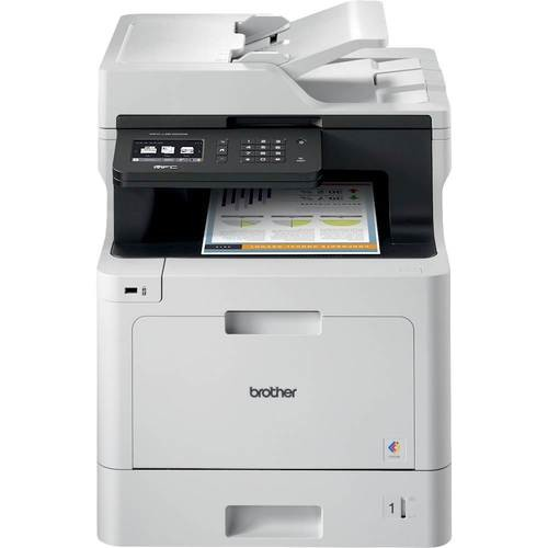 Brother - MFC-L8610CDW Wireless Color All-in-One Printer - White