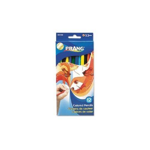 Prang Colored Wood Pencil Set, 3.3 mm, 12 Assorted Colors, 12 Pencils/Set-22120