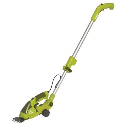 Sun Joe 2-in-1, 7.2 Volts Cordless Grass Shear Hedge Trimmer With Extension Pole - Green
