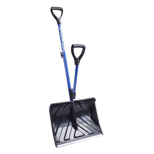 Snow Joe Shovelution 18-inch Strain-Reducing Snow Shovel w/ Spring-Assist Handle