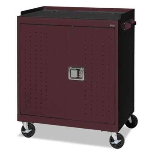 40-Compartment Laptop Storage Cart Color: Burgundy