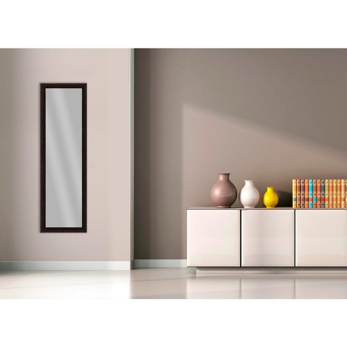 PTM Images 51.875 in. x 15.875 in. Dark Bronze Framed Mirror