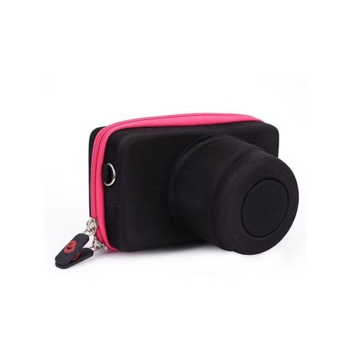 Kroo Magenta Compact Camera Molded Body And Lens Case