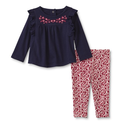 Little Wonders Infant Girls' Ruffle Top & Leggings - Floral [Age : Infant]