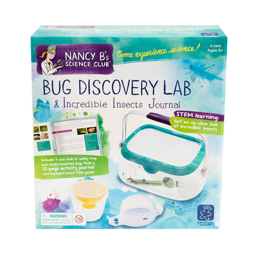 Educational Insights Nancy B's Science Club Bug Discovery Lab and Incredible Insects Journal Science Kit