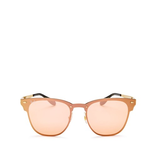 RAY-BAN Blaze Clubmaster Mirrored Square Sunglasses, 47Mm