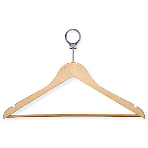 Honey-Can-Do HNG-01737 Hotel Suit Hangers- with Clip, Maple, 24-Pack