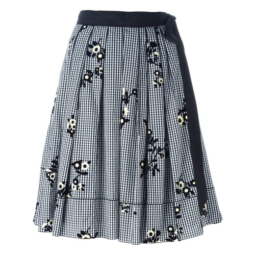 MARC JACOBS Floral Gingham Skirt