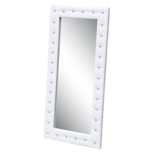 Tufted Mirror in White