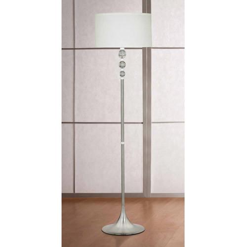 Kenroy Home Luella Floor Lamp, Brushed Steel