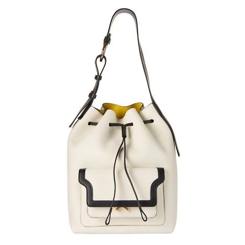 MARNI Pocket Front Drawstring Shoulder Bag