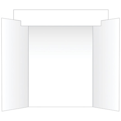 Geographics Tri-Fold Project Board With Interlocking Header, White