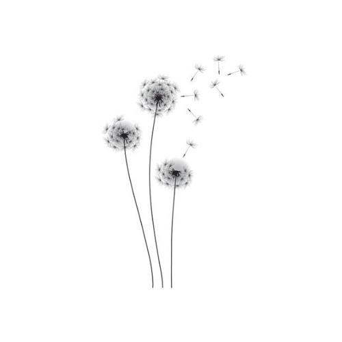 Whimsical Dandelion Peel and Stick Giant Wall Decals