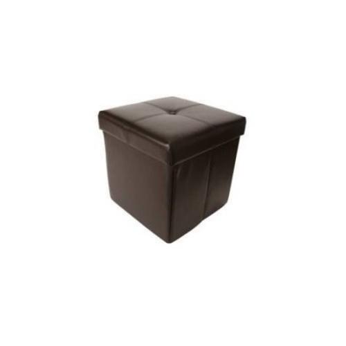 Hodedah Cube Upholstered Storage Ottoman