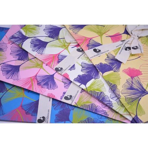Gift Wrap with Fan Pattern