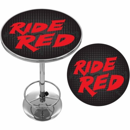 Trademark Global Honda Ride Red Chrome Pub Table