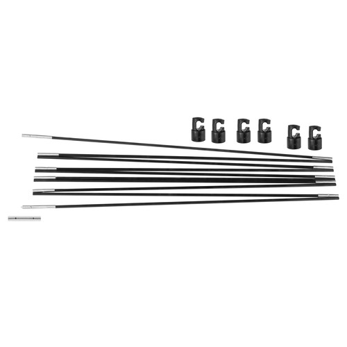 Upper Bounce Universal Trampoline Fiber Glass Rods To Replace Top Ring Of Net Enclosure For 8' Frame - 6 Pole Caps Included