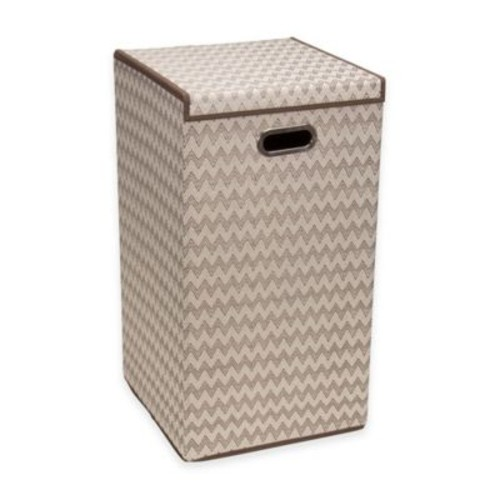 Household Essentials Collapsible Laundry Hamper in Brown