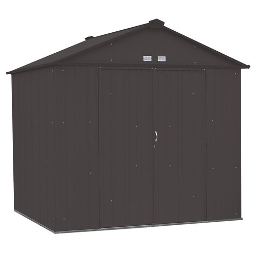 Arrow EZEE Shed 6 ft. x 5 ft. Galvanized Steel Cream/Charcoal Trim Low Gable