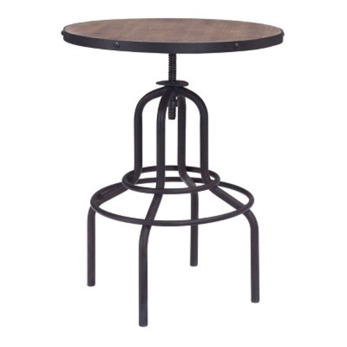 Twin Peaks Pub Table Distressed Natural - Zuo