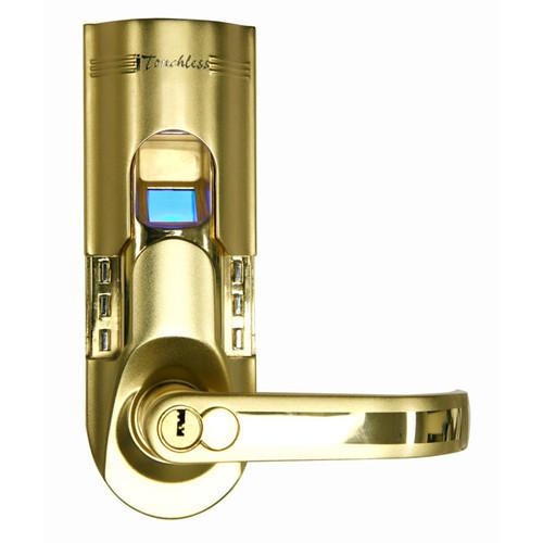 Gold Finish Fingerprint Right-handled Door Lock