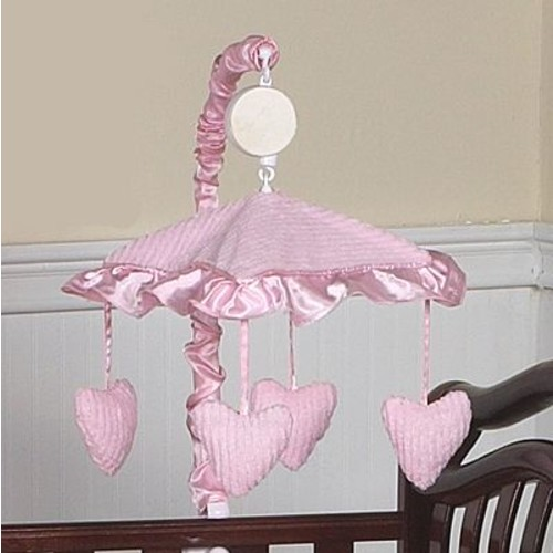 Sweet Jojo Designs Chenille Pink Collection Musical Mobile