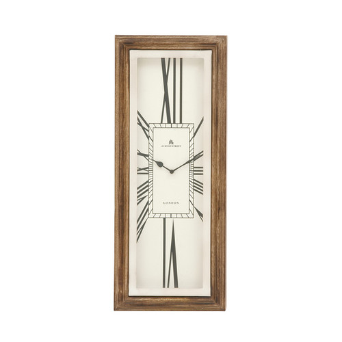 Brown Stainless Steel Wood Wall Clock