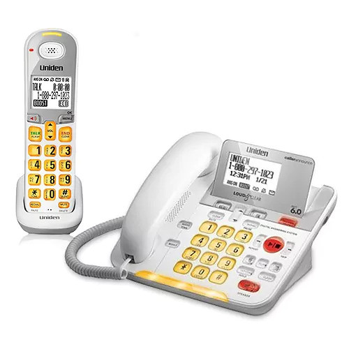 Uniden D3098 Corded/Cordless Amplified Phone with Oversized Keypad Buttons