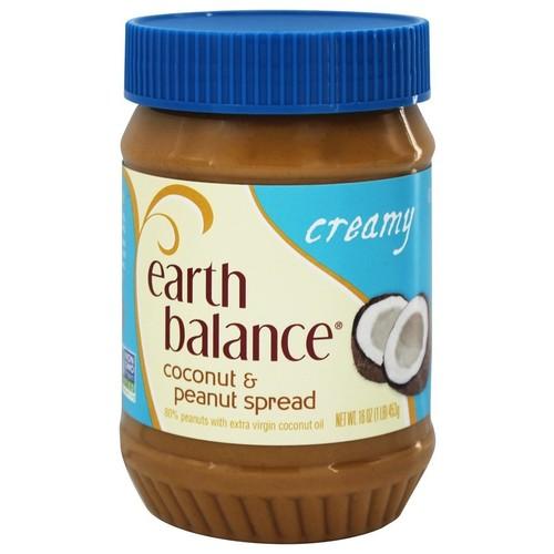 Earth Balance Coconut and Peanut Spread Creamy Gluten Free -- 16 oz