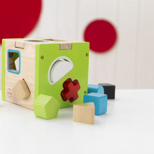 KidKraft Children's Shape Sorter Cube with 10 Blocks