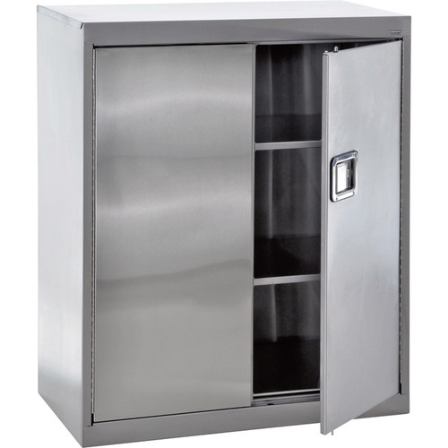 Sandusky Buddy Stainless Steel Storage Cabinet  36in.W x 18in.D x 42in.H, Model# SA2D361842-XX