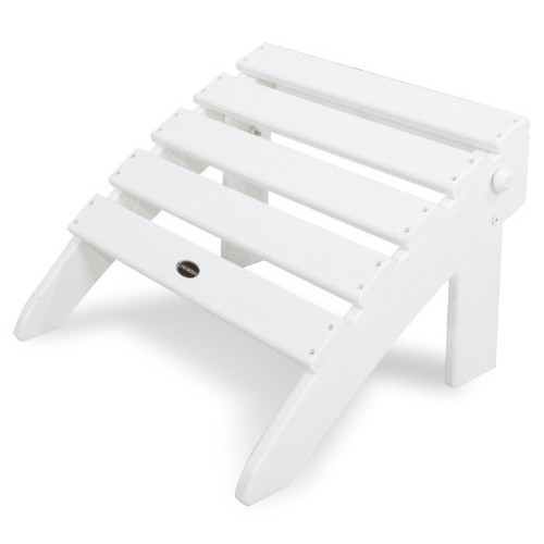 POLYWOOD OT53WH Classic Folding Ottoman, White [White]