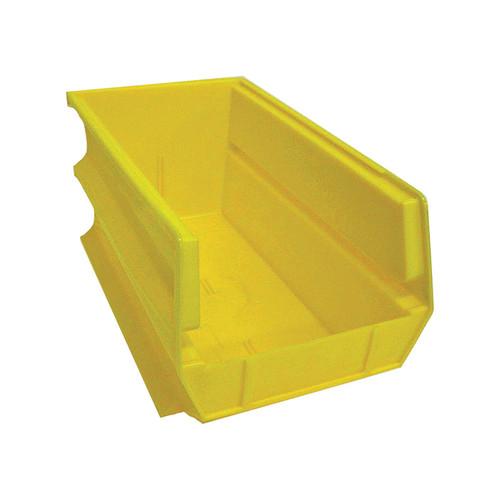 Triton Products LocBin Hanging and Interlocking Bins  6-Pk., Yellow, 14 3/4-In.L x 8 1/4-In.W x 7-In.H, Model# 3-240Y