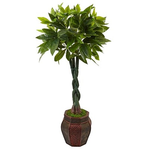 Nearly Natural 4.5 Money Tree in Planter (5969)