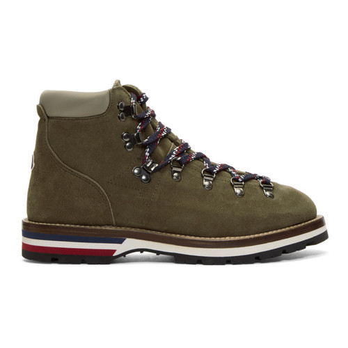 MONCLER Green Suede Peak Boots