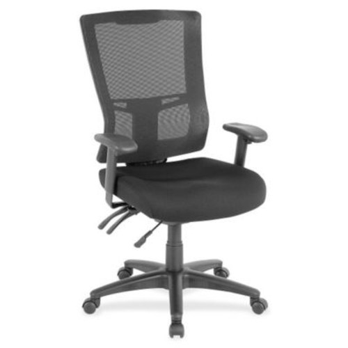 Lorell Fabric executive Office Chair, Fixed Arms, Black (RTL156628)