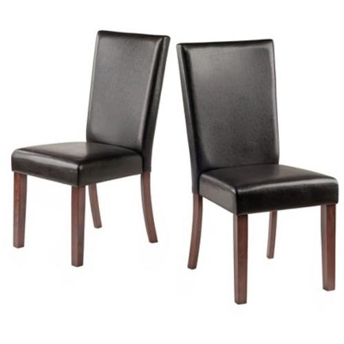 Johnson Chair (Set of 2) - Espresso, Black - Winsome