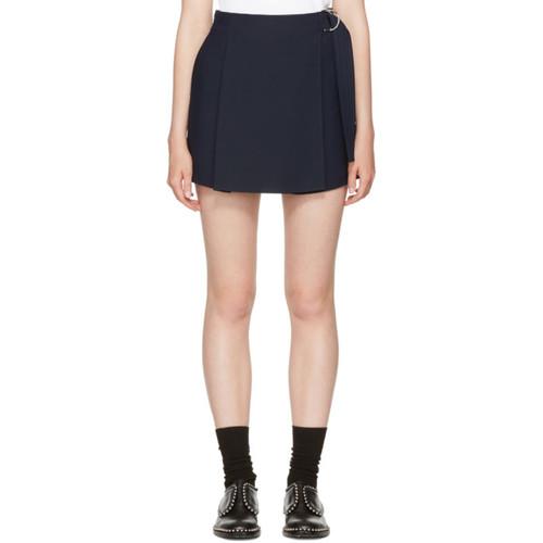 CARVEN Navy Belt Sash Shorts