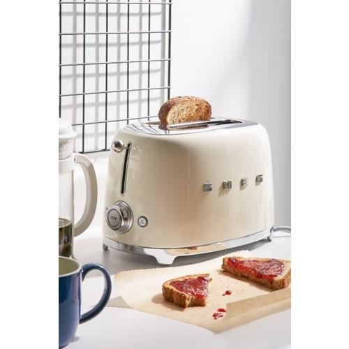 Smeg Toaster, 2 Slice Cream - TSF01CRUS