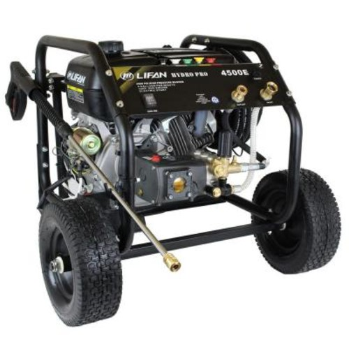 LIFAN Hydro Pro Series 4,500 psi 4.0 GPM AR Tri-Plex Pump Recoil Start Gas Pressure Washer with Panel Mounted Controls CARB