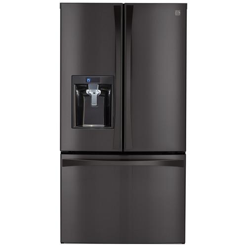 Kenmore Elite 73157 28.7 cu. ft. French Door Bottom Freezer Refrigerator  Black Stainless