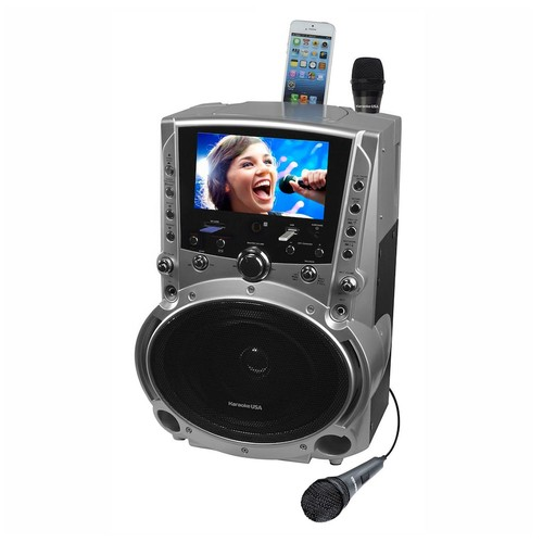 Karaoke USA Karaoke System with 7-Inch Color Screen, Record & Bluetooth