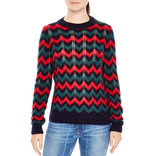 SANDRO Jessie Chevron Sweater